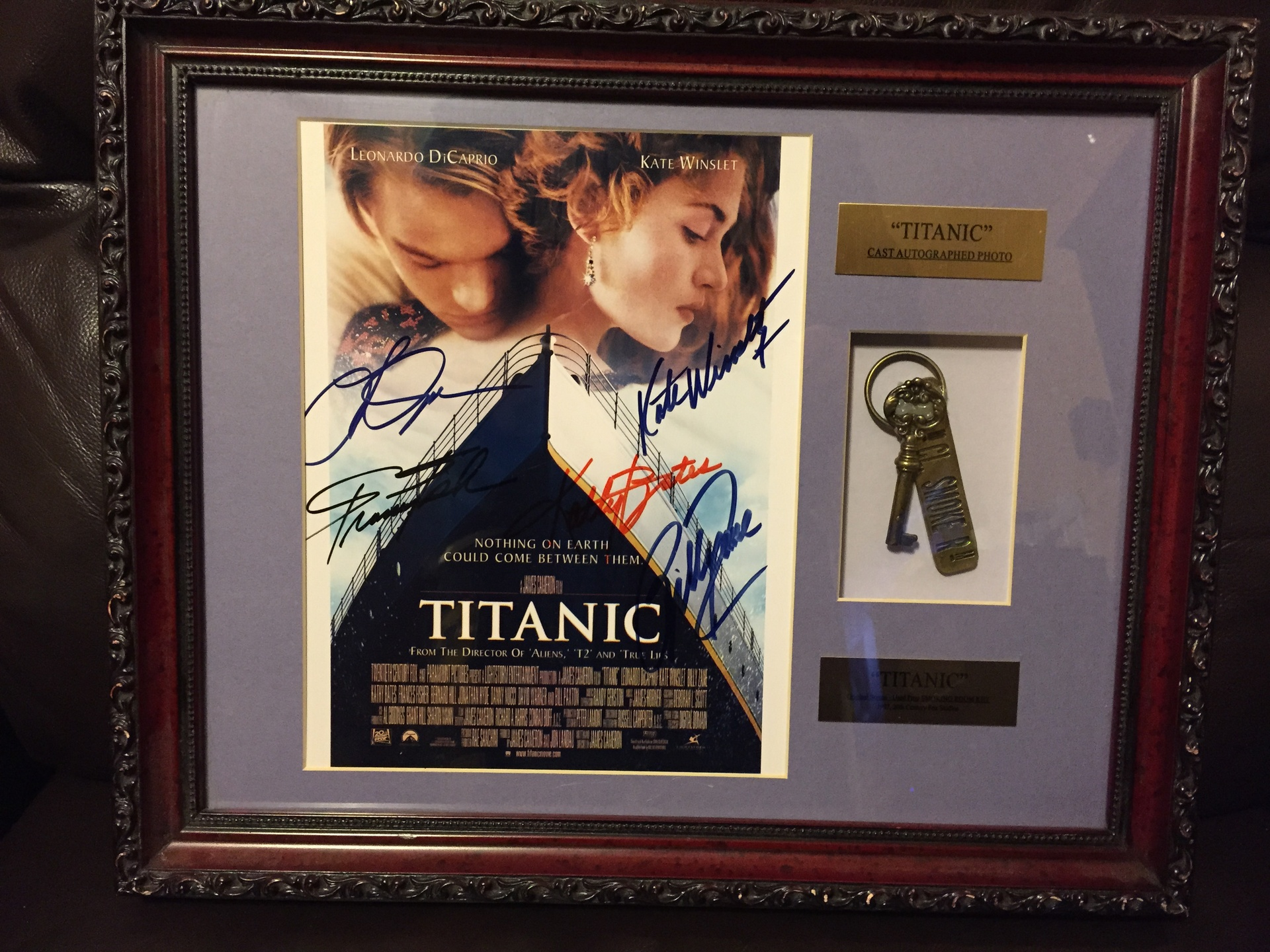Smoking room key & Cast Signed Photo