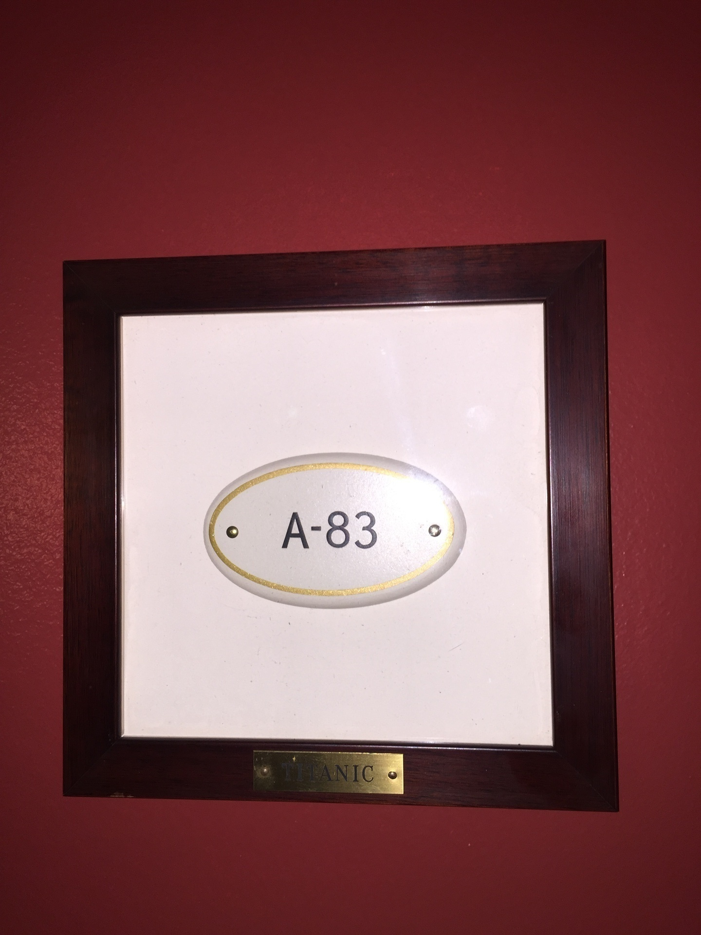 A-83 Stateroom Plaque